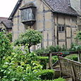 The rear of Shakespeare's boyhood home