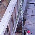 A leaf on the drawbridge