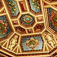 richly decorated roof...
