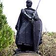 a conqueror's stance...