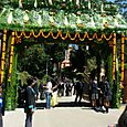A floral arch at the main entrance...