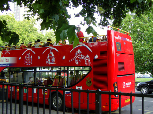 the london tour bus...