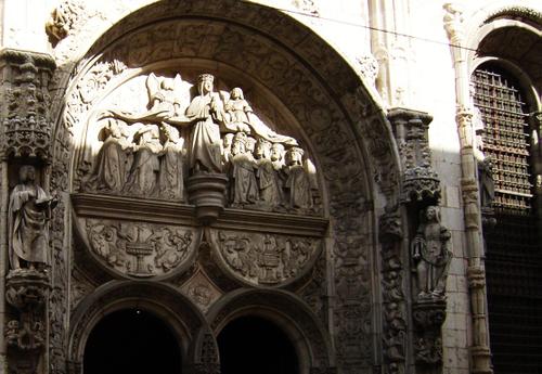 carved entrance...