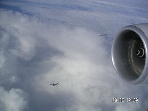 aerial escort...