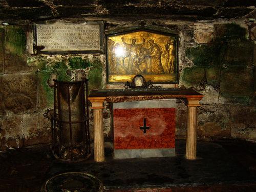 the altar inside...